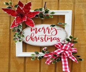 WELCOMING SANTA, MAKING A CHRISTMAS FRAME – CLASSES - BUDS AND BLOOMS