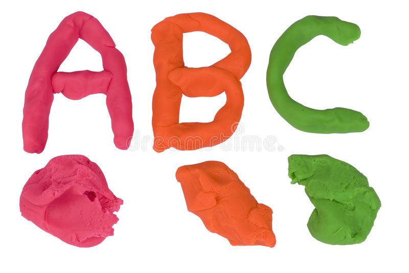 Making of Two Letter Words Using Clay Modeling