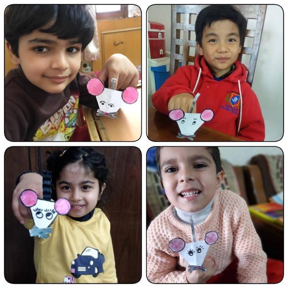 ACTIVITY - MAKING A FINGER PUPPET OF A  MOUSE - CLASS BLOOMS