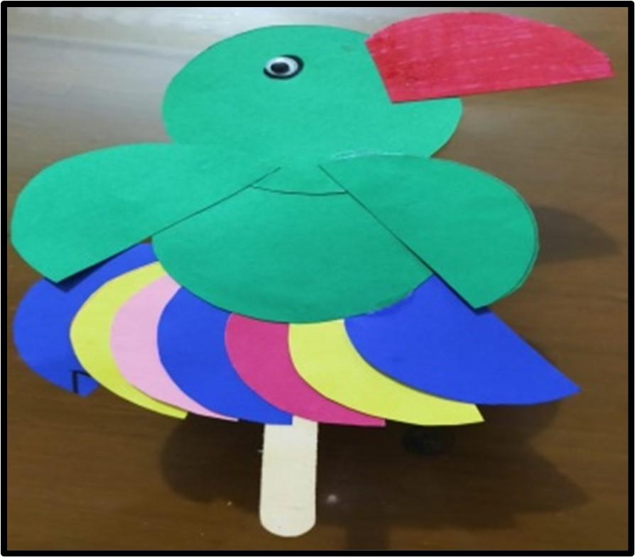 Stick Puppet of a Parrot Making Activity